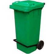 Green Trash Can - 95 Gal W/Lid Lifter - TH-95-GRN-FL
