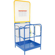 """Work Platform - Dual Side Door Entry with Extended Back - 36""""W x 36""""L"""