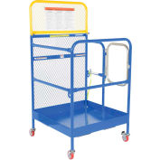 """Work Platform - Single Side Door Entry with Casters - 36""""W x 36""""L"""