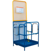 """Work Platform - Dual Side Door Entry with Extended Back - 36""""W x 48""""L"""
