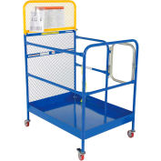 """Work Platform - Single Side Door Entry with Casters - 36""""W x 48""""L"""