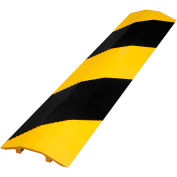 """Extruded Aluminum Hose & Cable Crossover, Yellow/Black, 24"""" x 2-7/8"""" x 7/16"""""""