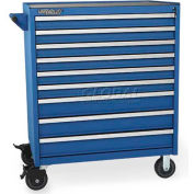 Versatility Turret Tooling Cabinet w/Mobile Base, 9 Drawers
