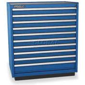 Versatility Heavy Duty Modular Drawer Cabinet w/Forklift Base & Vinyl Worktop, Standard 10 Drawers