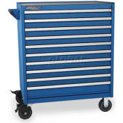 Versatility Heavy Duty Modular Drawer Cabinet w/Mobile Base & Vinyl Worktop, Standard 10 Drawers