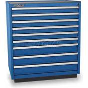 Versatility Heavy Duty Modular Drawer Cabinet w/Forklift Base & Vinyl Worktop, Standard 9 Drawers