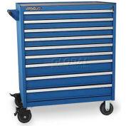 Versatility Heavy Duty Modular Drawer Cabinet w/Mobile Base & Vinyl Worktop, Standard 9 Drawers
