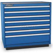 Versatility Heavy Duty Modular Drawer Cabinet w/Forklift Base & Vinyl Worktop, Standard 7 Drawers