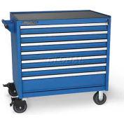 Versatility Heavy Duty Modular Drawer Cabinet w/Mobile Base & Vinyl Worktop, Standard 7 Drawers