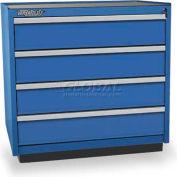 Versatility Heavy Duty Modular Drawer Cabinet w/Forklift Base & Vinyl Worktop, Standard 4 Drawers
