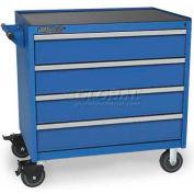 Versatility Heavy Duty Modular Drawer Cabinet w/Mobile Base & Vinyl Worktop, Standard 4 Drawers