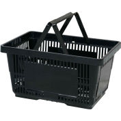 VersaCart® Plastic Shopping Basket 28 Liter with Nylon Handle 206-28L - Black - Pkg Qty 12