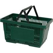VersaCart® Plastic Shopping Basket 28 Liter with Nylon Handle 206-28L - Drk Green - Pkg Qty 12