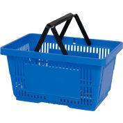 VersaCart® Plastic Shopping Basket 28 Liter with Nylon Handle 206-28L - Lt Blue - Pkg Qty 12