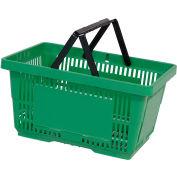 VersaCart® Plastic Shopping Basket 28 Liter with Nylon Handle 206-28L - Lt Green - Pkg Qty 12