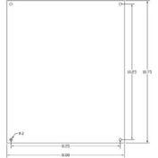 """Vynckier Mp1210n Vj 12"""" X 10"""" Non-Metallic Mounting Plate - Min Qty 5"""