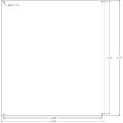 "Vynckier Mp1816a Vj 18"" X 16"" Aluminum Mounting Plate - Min Qty 5"
