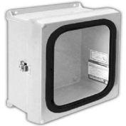 "Vynckier VJG606HWLL1 VJG 6"" X 6"" Non-Metallic Enclosure, Gasket Window, Hinge, 1 Twist Latch"