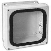 "Vynckier Vjg606w Vjg 6"" X 6"" Non-Metallic Enclosure, Gasket Window, 4 Corner Screws - Min Qty 2"