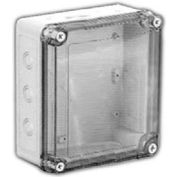 "Vynckier Vm776ctk Vm 7"" X 7"" X 6"" Non-Metallic Enclosure, Transparent Cover, Knockouts - Min Qty 2"