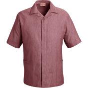 Red Kap® Pincord Shirt Jacket Short Sleeve Burgundy Pincord XL - 1S00
