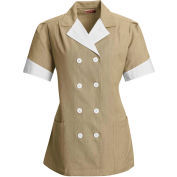 Red Kap® Double-Breasted Lapel Tunic Short Sleeve Tan Pincord Regular-L - 9S03