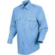 Horace Small™ New Dimension Stretch Poplin Men's Long Sleeve Shirt Light Blue 17.5 x 35 - HS11