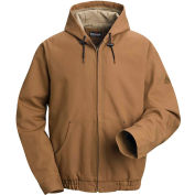 EXCEL FR® ComforTouch® Flame Resistant Hooded Jacket JLH4, Brown Duck, Size M Regular