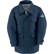 EXCEL FR® ComforTouch® Flame Resistant Deluxe Parka JLP8, Navy, Size L Long