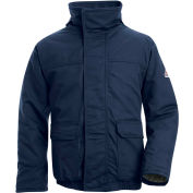 EXCEL FR® ComforTouch® FR Insulated Bomber Jacket JLR8, Navy, 7 oz., Size XXL Long