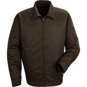 Red Kap® Slash Pocket Jacket Long-XL Brown JT22