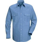 Red Kap® Men's Deluxe Western Style Shirt Regular-2XL SC14-SC14LBRGXXL