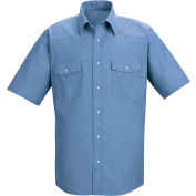 Red Kap® Men's Short Sleeve Deluxe Western Style Shirt L SC24-SC24LBSSL