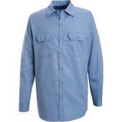 EXCEL FR® Flame Resistant Work Shirt SEW2, Light Blue, 7 oz., Size XXL Long