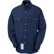 EXCEL FR® ComforTouch® FR Dress Uniform Shirt SLU2, Navy, Size M Regular