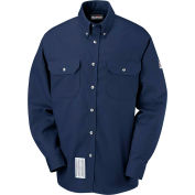 EXCEL FR® ComforTouch® FR Dress Uniform Shirt SLU2, Navy, Size S Regular