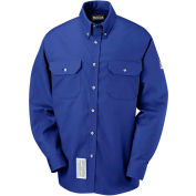 EXCEL FR® ComforTouch® FR Dress Uniform Shirt SLU2, Royal Blue, Size XL Regular