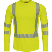 Power Dry® FR Hi-Visibility Long Sleeve T-Shirt SMK2, Yellow/Green, Size 5XL Regular