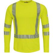 Power Dry® FR Hi-Visibility Long Sleeve T-Shirt SMK2, Yellow/Green, Size M Regular