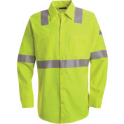 CoolTouch® 2 Hi-Visibility Flame Resistant Work Shirt SMW4, Yellow/Green, 7 oz., Size L Regular
