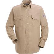 Nomex® IIIA Flame Resistant Snap-Front Uniform Shirt SNS2, Tan, 4.5 oz, Size S Regular