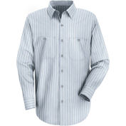 Red Kap® Men's Industrial Stripe Work Shirt Long Sleeve Light Blue/Navy Stripe Regular-2XL SP10
