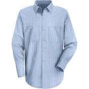 Red Kap® Men's Industrial Stripe Work Shirt Long Sleeve GM Blue/White Stripe Extra Long-XL SP10