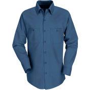 Red Kap® Men's Industrial Work Shirt Long Sleeve Dark Blue Regular-S SP14