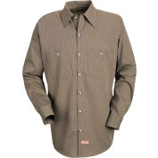 Red Kap® Men's Geometric Micro-Check Work Shirt Khaki/Black Microcheck Regular-XL SP14