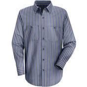 Red Kap® Men's Industrial Stripe Work Shirt Long Sleeve Navy/Khaki Stripe Regular-2XL SP14