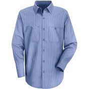 Red Kap® Men's Durastripe Work Shirt Medium Blue/Light Blue Twin Stripe Regular-M SP14