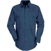 Red Kap® Men's Industrial Work Shirt Long Sleeve Navy Extra Long-L SP14