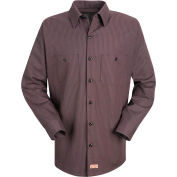 Red Kap® Men's Durastripe Work Shirt Charcoal/Red Twin Stripe Regular-S SP14-SP14RCRGS