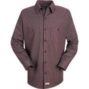 Red Kap® Men's Durastripe Work Shirt Charcoal/Red Twin Stripe Regular-XL SP14-SP14RCRGXL